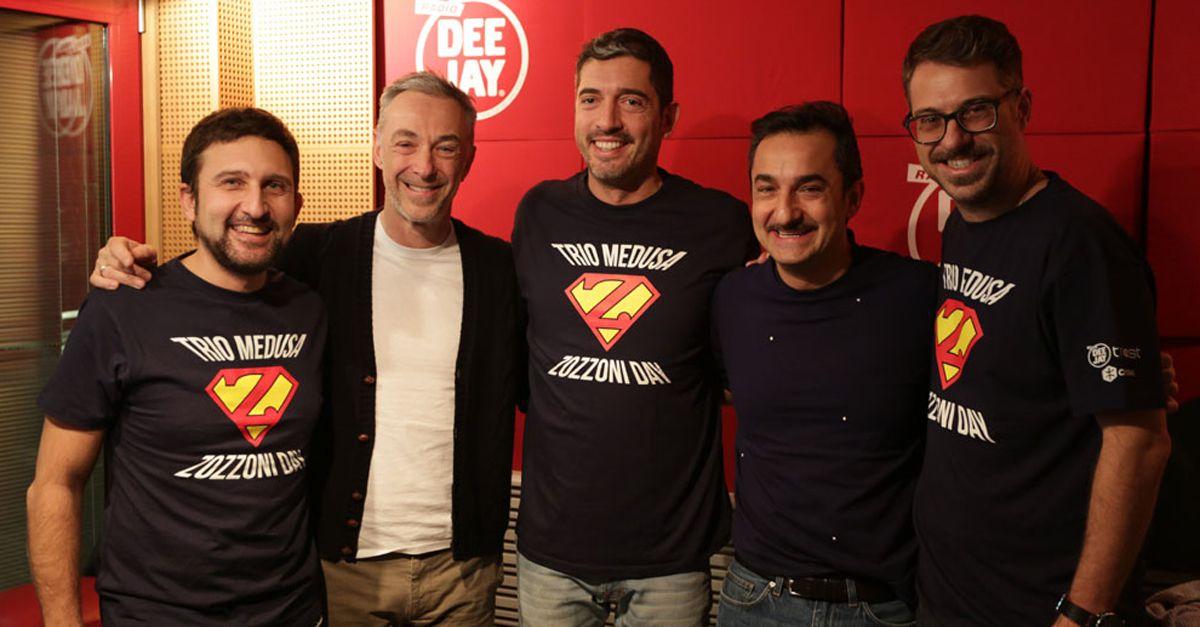 #ZZZday. Linus, Nicola Savino e il Trio Medusa lanciano l'asta in favore del Cesvi