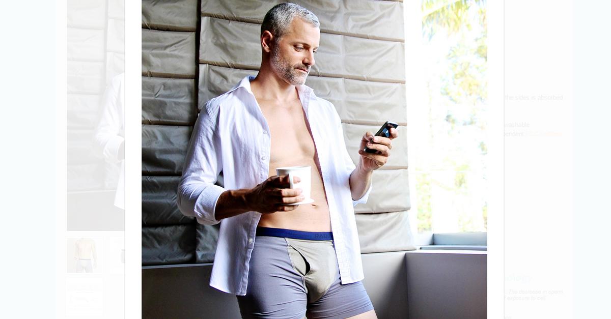 Il regalo che ogni uomo sogna? I boxer d'argento anti radiazioni del cellulare. Parola di Luciana e Vic