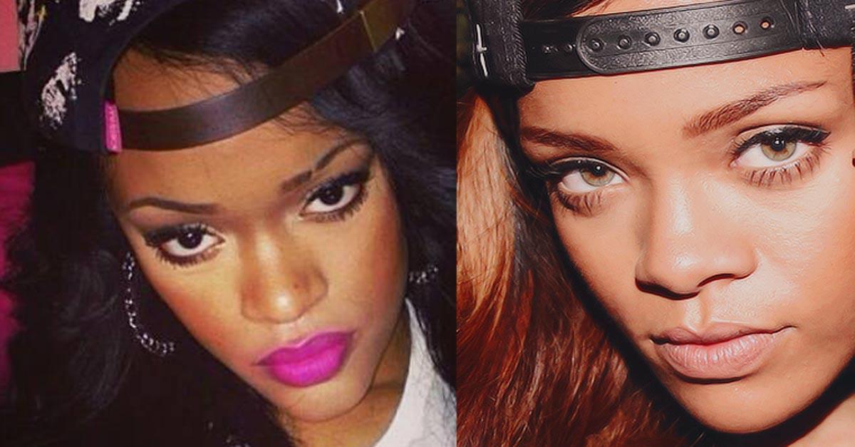 Rihanna ha una sosia, si chiama Andele Lara e in rete è già una star