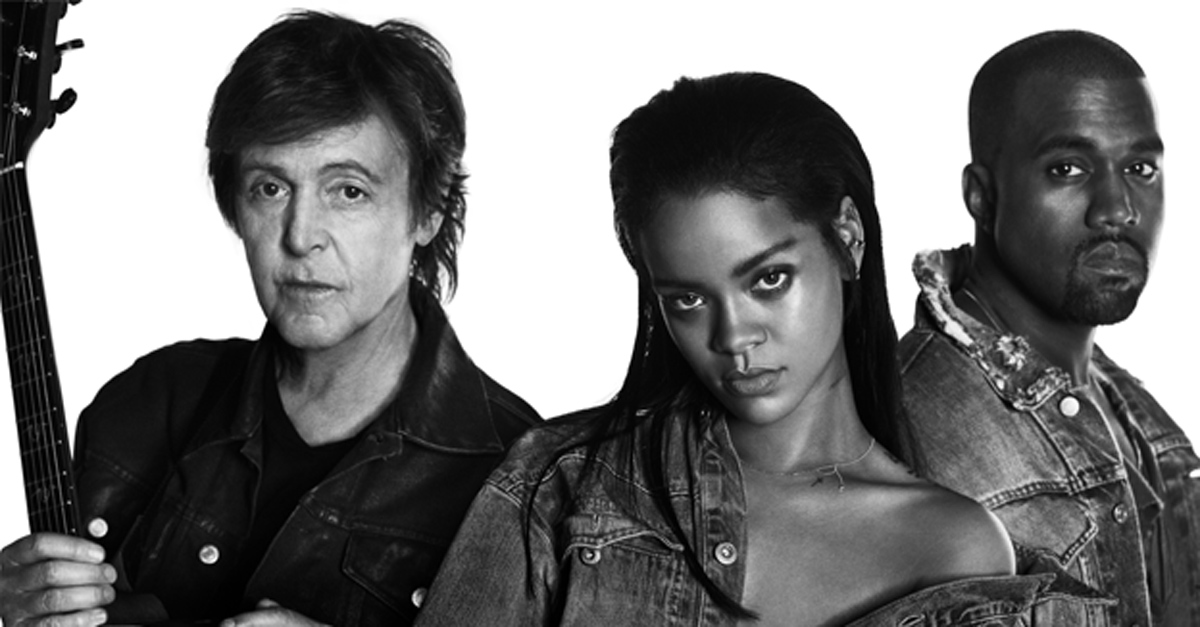 Rihanna è tornata: a sorpresa il nuovo singolo con Paul McCartney e Kanye West