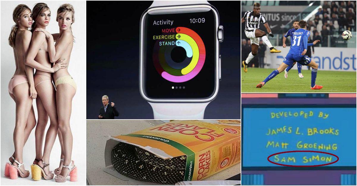 Chiacchiere da Bar: Ecco finalmente l'Apple Watch, morto un 'papà' dei Simpson, Juve verso lo scudetto