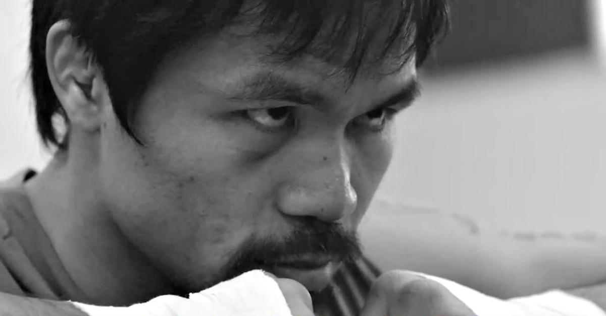 L'allenamento di Pacquiao a pochi giorni dal match: 'Se vuoi la corona devi lavorare duro'