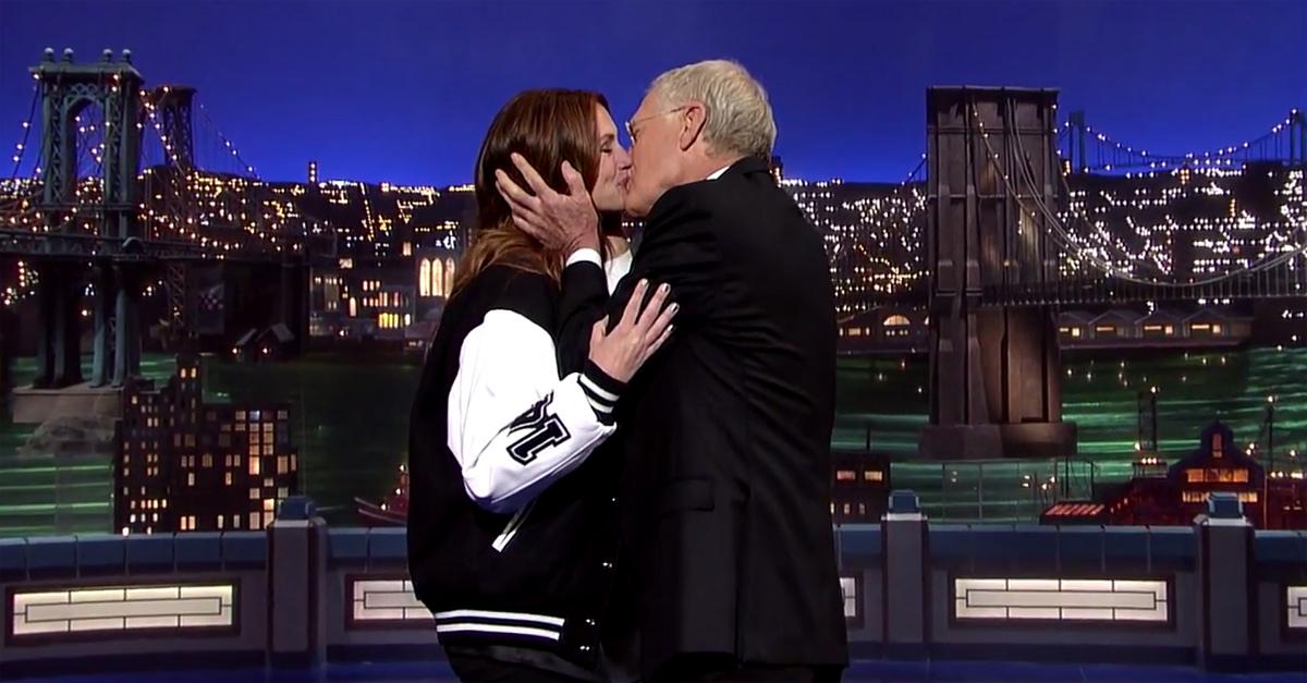 New York, l'ultimo bacio tra Julia Roberts e David Letterman