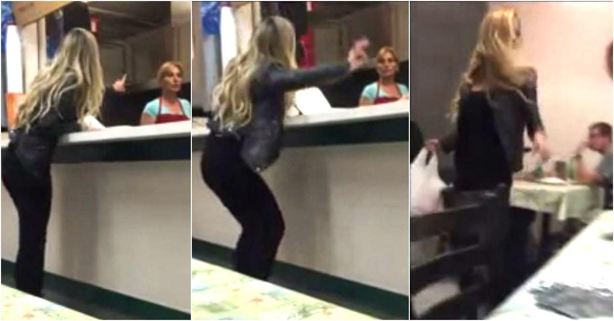 La scenata isterica di questa donna al kebabbaro finisce nel modo peggiore (per lei)