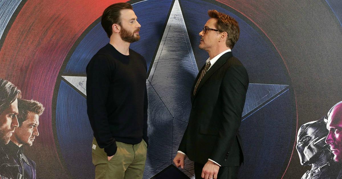 "Civil War: scontro #TeamCap vs #TeamIronMan, Robert Downey Jr.:""Mio figlio ama Capitan America: è guerra!"""