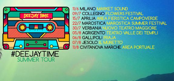 Deejay Time, parte il summer tour: ecco tutte le date