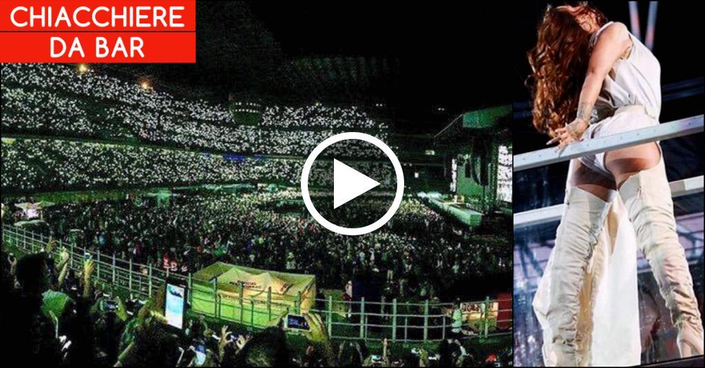 """Rihanna illumina Milano: tripudio di luci a San Siro per la canzone """"Diamonds"""""""