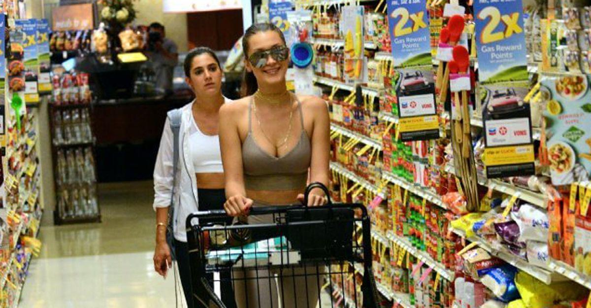 Bella Hadid: anche le top model vanno al supermercato