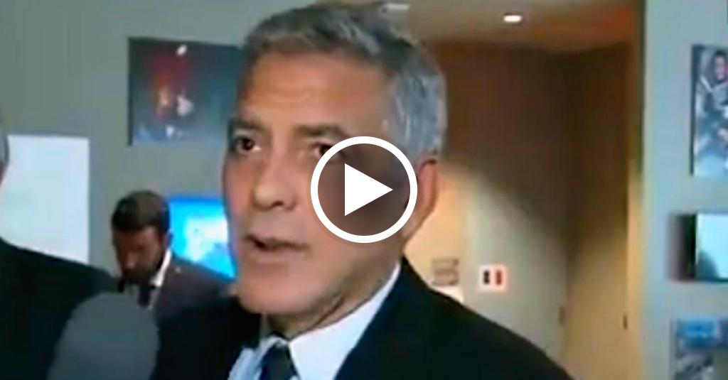 La faccia di George Clooney quando scopre in diretta il divorzio tra Angelina e Brad Pitt