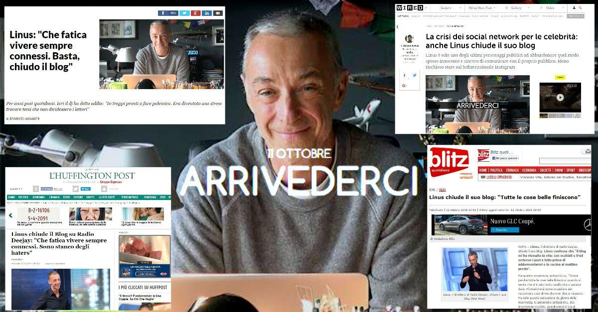 Linus chiude il blog: la notizia rimbalza in rete e arriva sui giornali (con una precisazione)