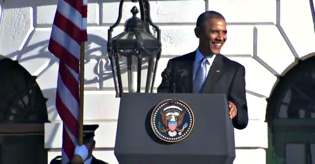 """Obama parla italiano al ricevimento della delegazione: """"Patti chiari, amicizia lunga"""""""