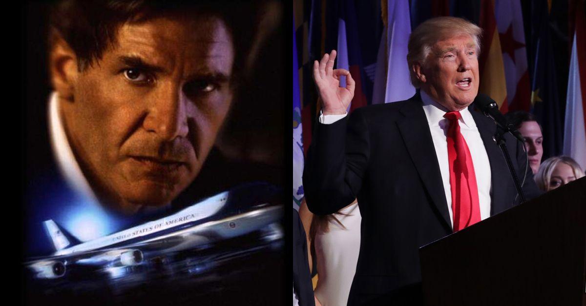 Trump, l'entrata da Presidente sulla colonna sonora di Air Force One