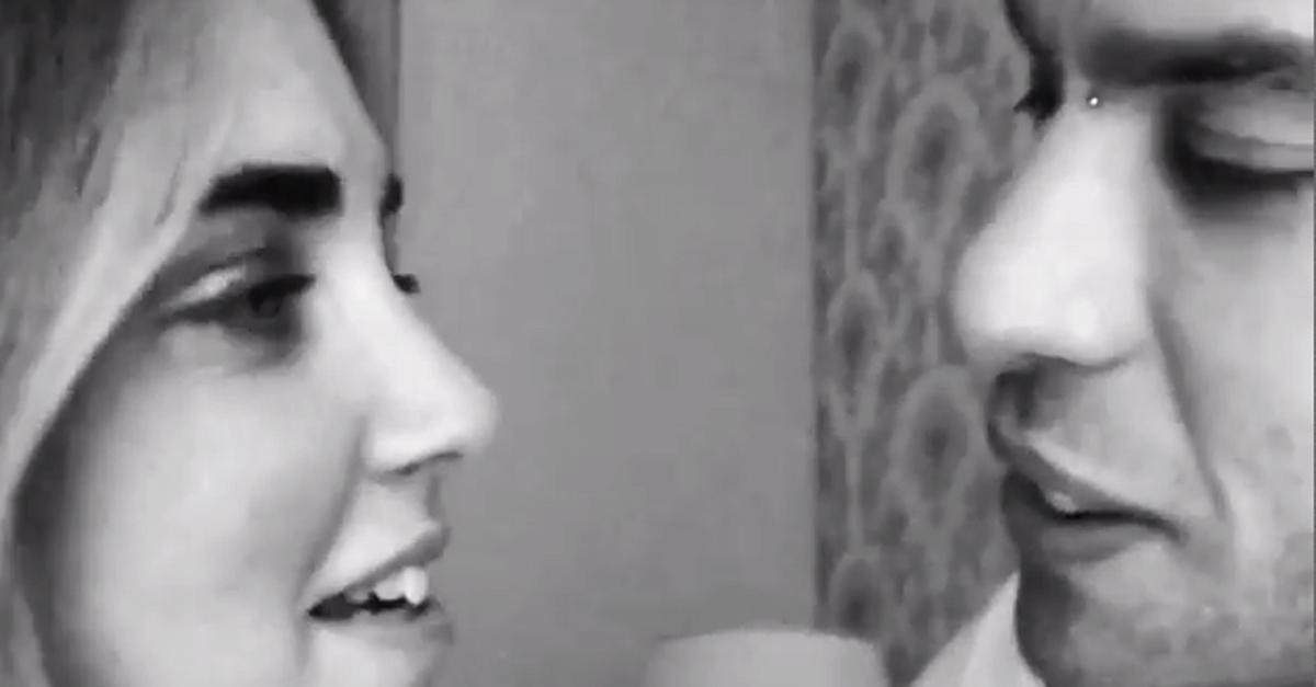 """""""Guanciotte"""" Il video del primo bacio social tra Fedez e Chiara Ferragni"""