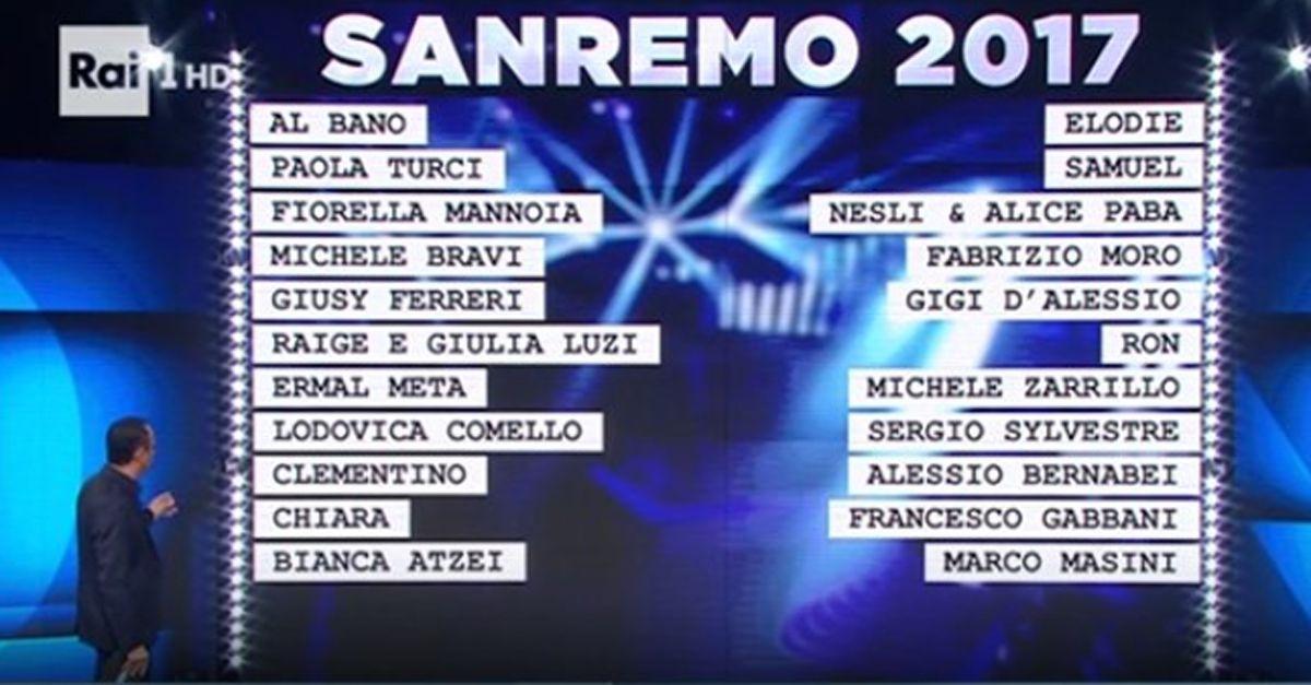 Sanremo 2017, svelato il primo superospite