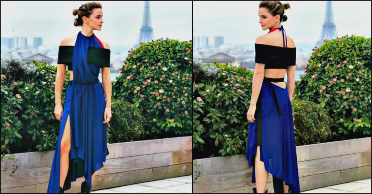 """Gli outfit sostenibili di Emma Watson: """"Questo Louis Vuitton è riciclato da bottiglie di plastica"""""""