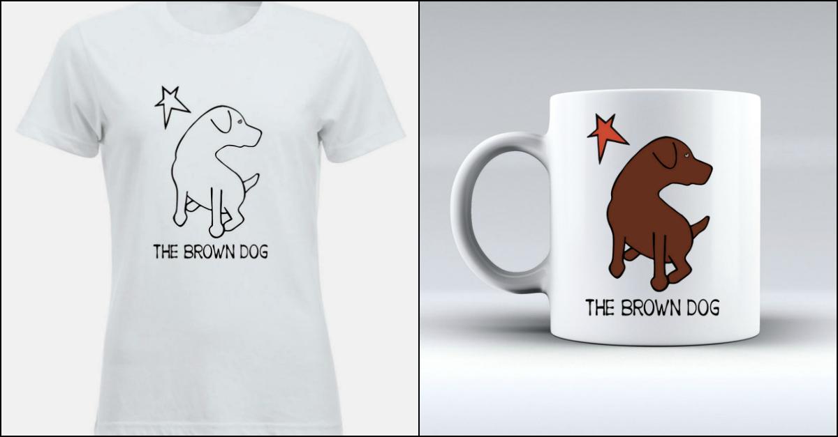 """Bruna diventa """"The Brown Dog"""" per una buona causa: 1000 magliette e tazze in vendita solo per oggi"""
