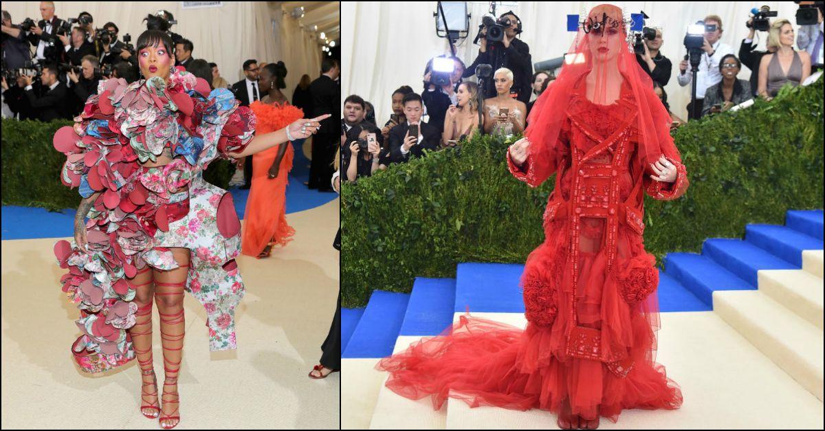 Da Rihanna petalosa al figlio di Will Smith coi dread in mano: i look più strani visti al Met Gala