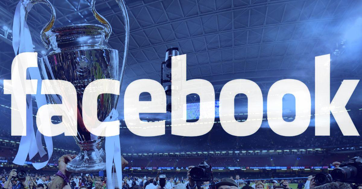Facebook trasmetterà da settembre le partite di Champions League: è l'inizio di una svolta?