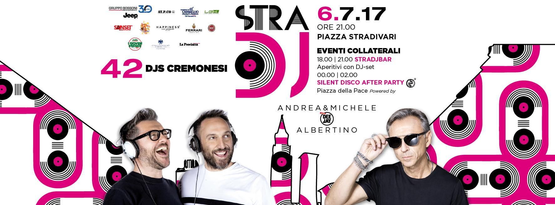 Cremona. Torna STRADJVARI: sul palco Andrea & Michele, Linus, Albertino e Molella