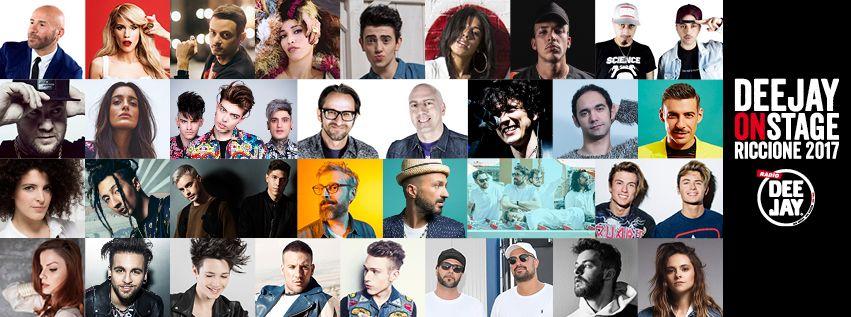 Sotto il sole di Riccione c'è Deejay On Stage: sul palco Gabbani, Rovazzi, Ghali e tanti altri