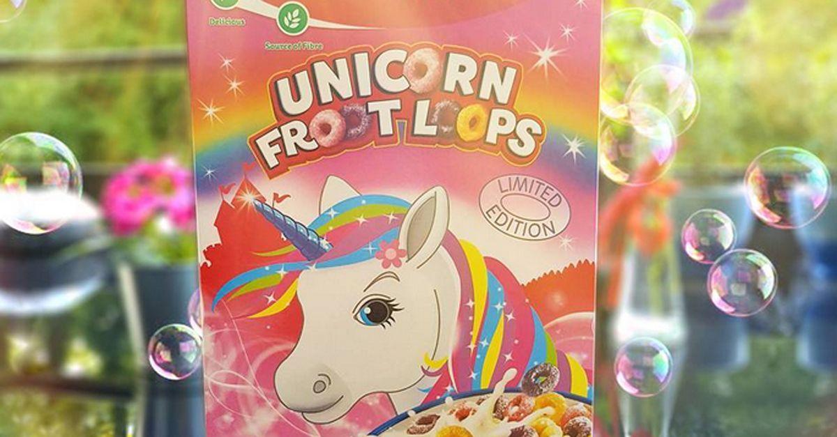 Sono arrivati (in edizione limitata) i cereali al gusto unicorno