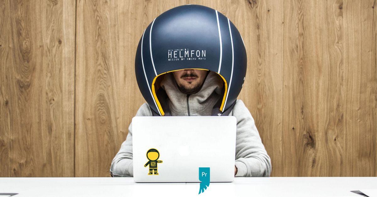 Ecco il casco da ufficio per isolarsi dai colleghi rumorosi