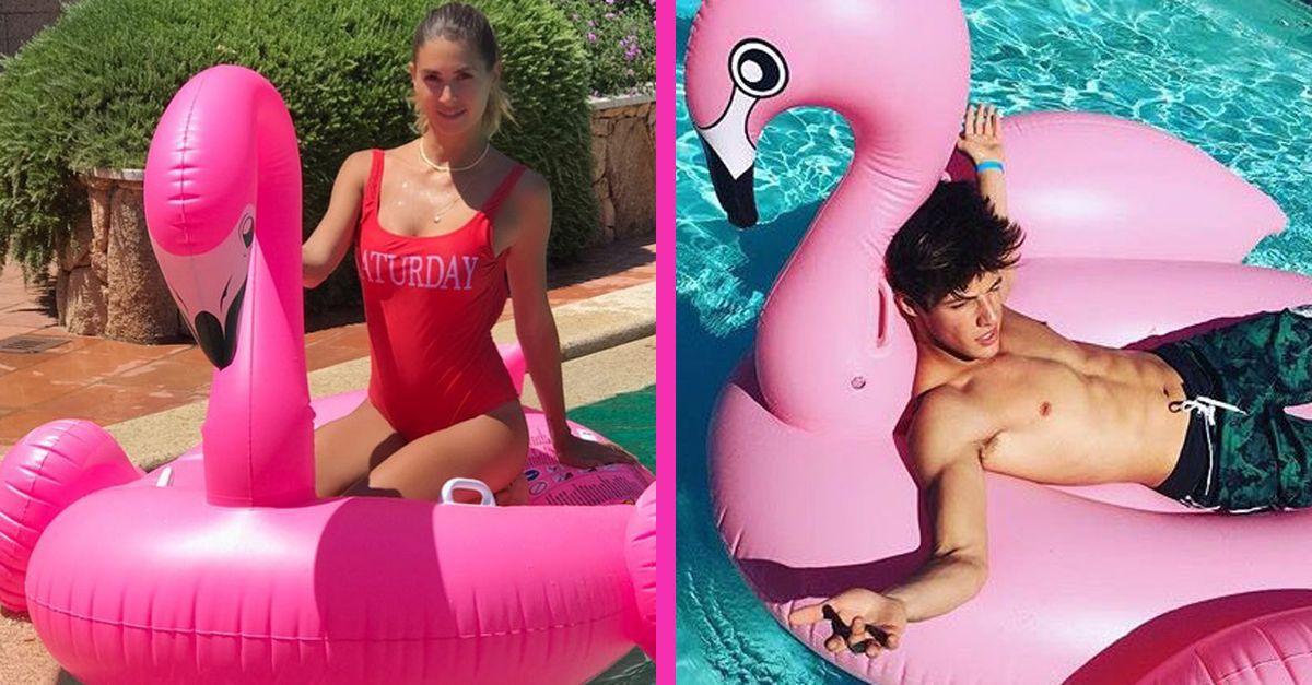 Il gonfiabile del fenicottero rosa è il must have dell'estate '17