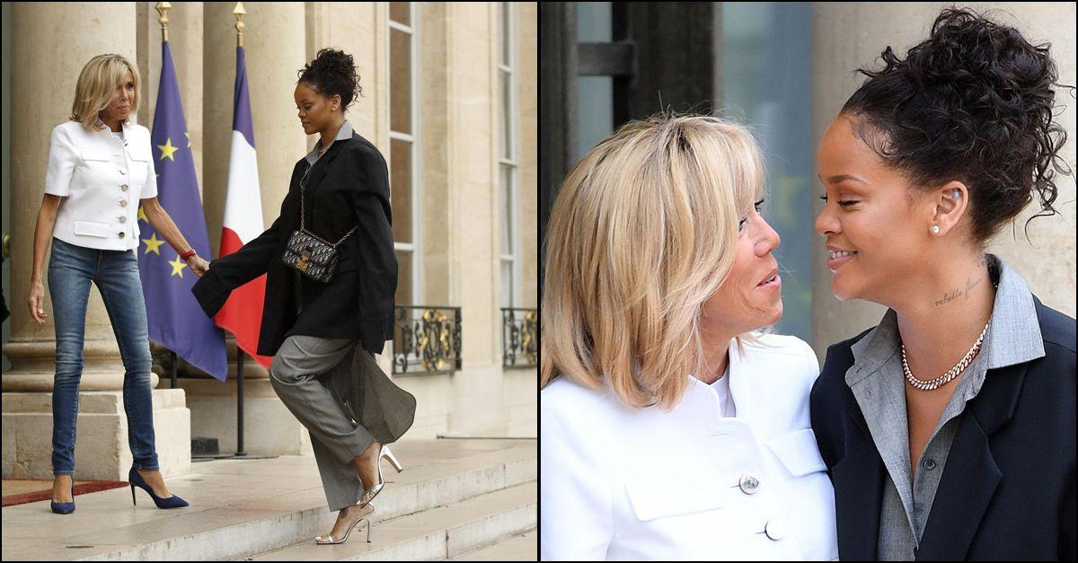 Dopo Bono, Brigitte Macron accoglie Rihanna all'Eliseo