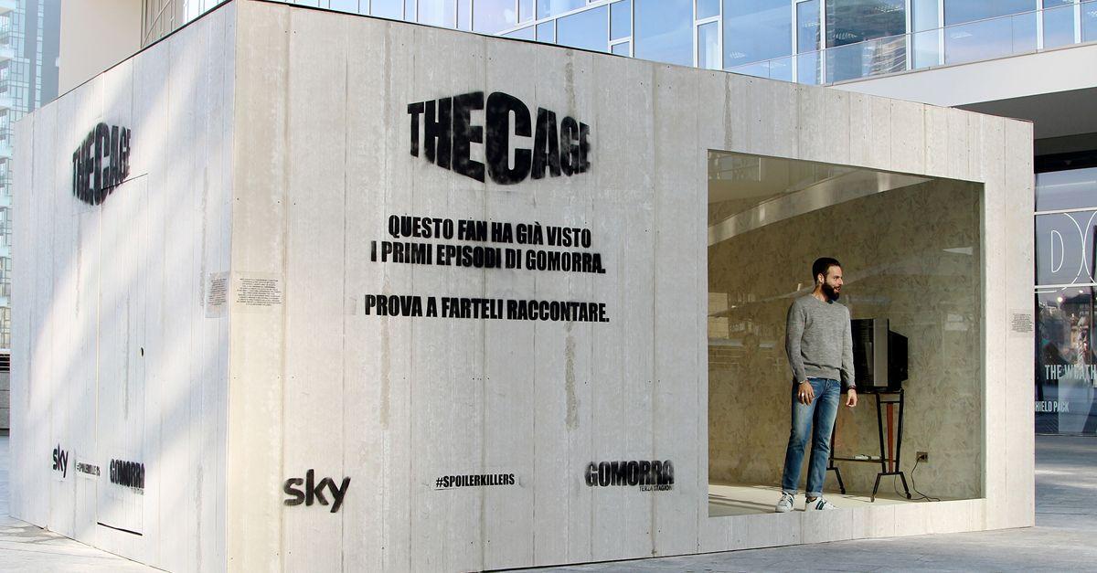 Questo fan ha già visto i primi episodi della terza stagione di Gomorra. The Cage: la stanza a Milano