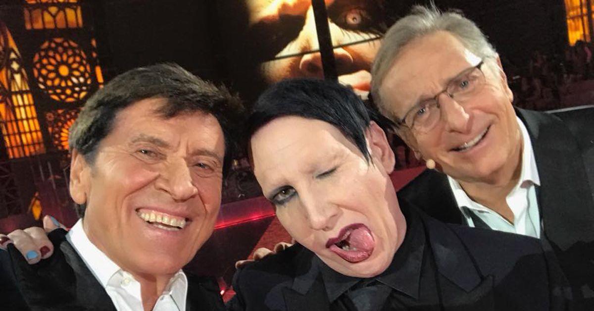 Gianni Morandi, Marilyn Manson e Paolo Bonolis: il selfie dei selfie