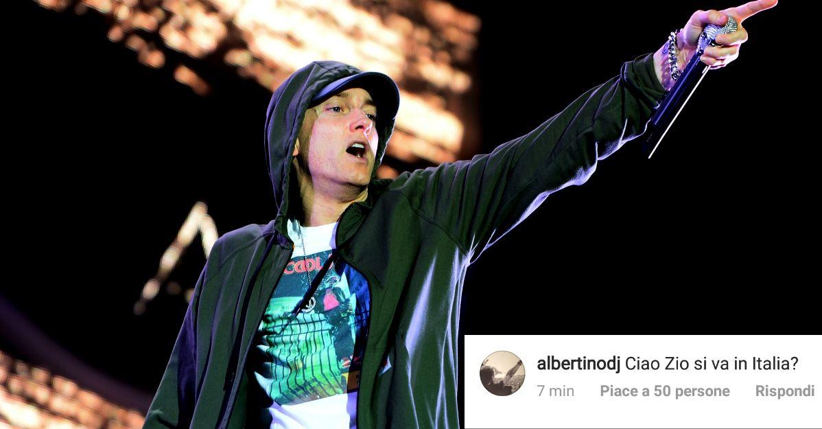 Albertino lancia la campagna per portare finalmente Eminem in Italia