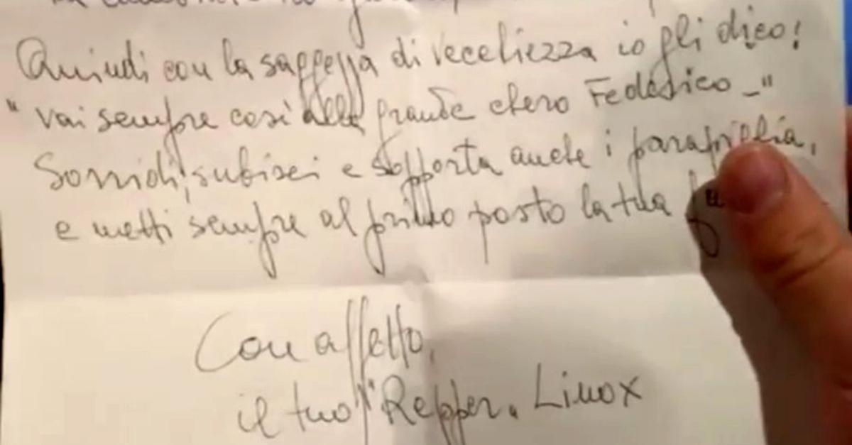 La dedica in rima di Lino Banfi a Fedez è il consiglio che ogni nonno darebbe a un papà