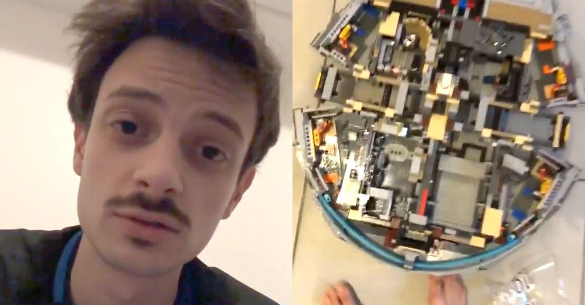 """Fabio Rovazzi sta montando il Millennium Falcon da 7500 pezzi """"È un incubo"""""""