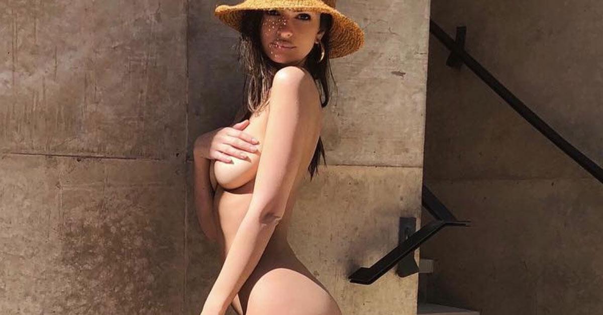 Emily Ratajkowsy posa nuda per il marito e pubblica la foto su Instagram