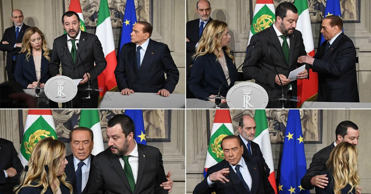Consultazioni, Berlusconi ruba la scena a Salvini