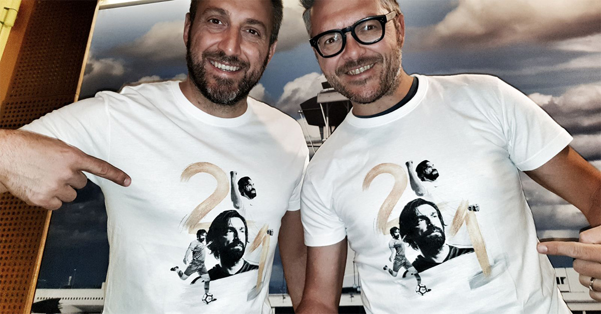 San Siro, 21 maggio, l'addio al calcio di Andrea Pirlo: ecco la t-shirt dell'evento
