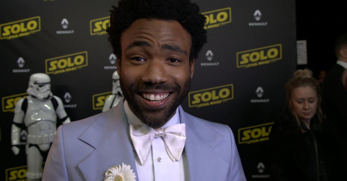 """Donald Glover: """"Il bambino di 8 anni che è in me è felice di Solo: A Star Wars Story"""""""
