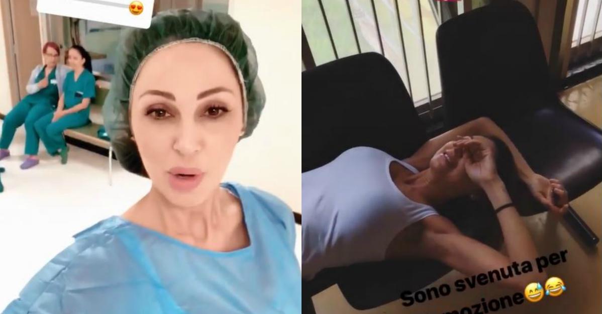 Anna Tatangelo sviene in sala parto: l'emozione è troppo forte