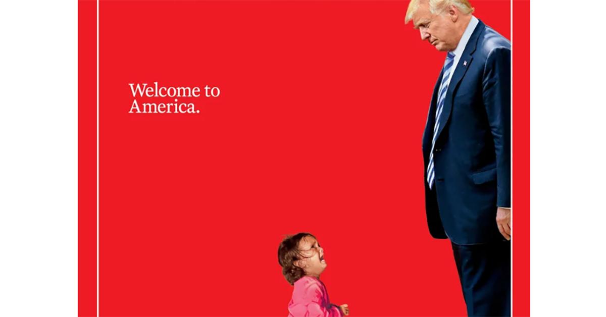 """""""Benvenuti in America"""", la copertina di Time con la bimba in lacrime e Trump"""
