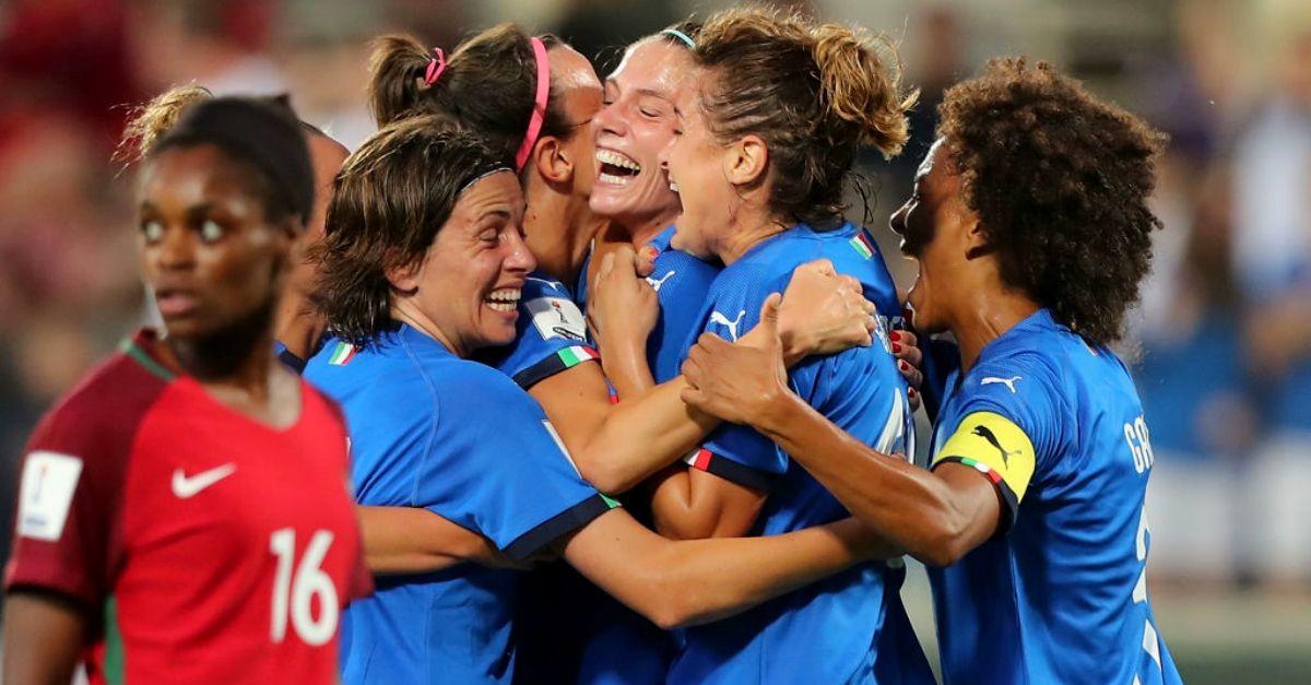 Un'Italia ai Mondiali c'è: quella femminile. Battuto il Portogallo 3 a 0