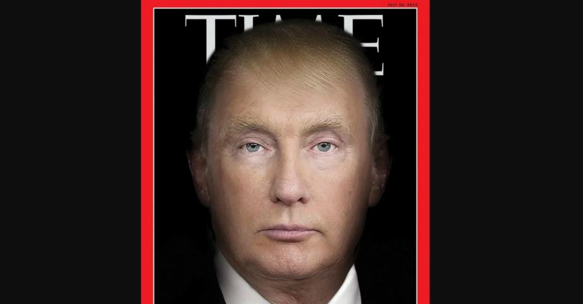 Trump e Putin fusi in un unico volto sulla nuova copertina del Time