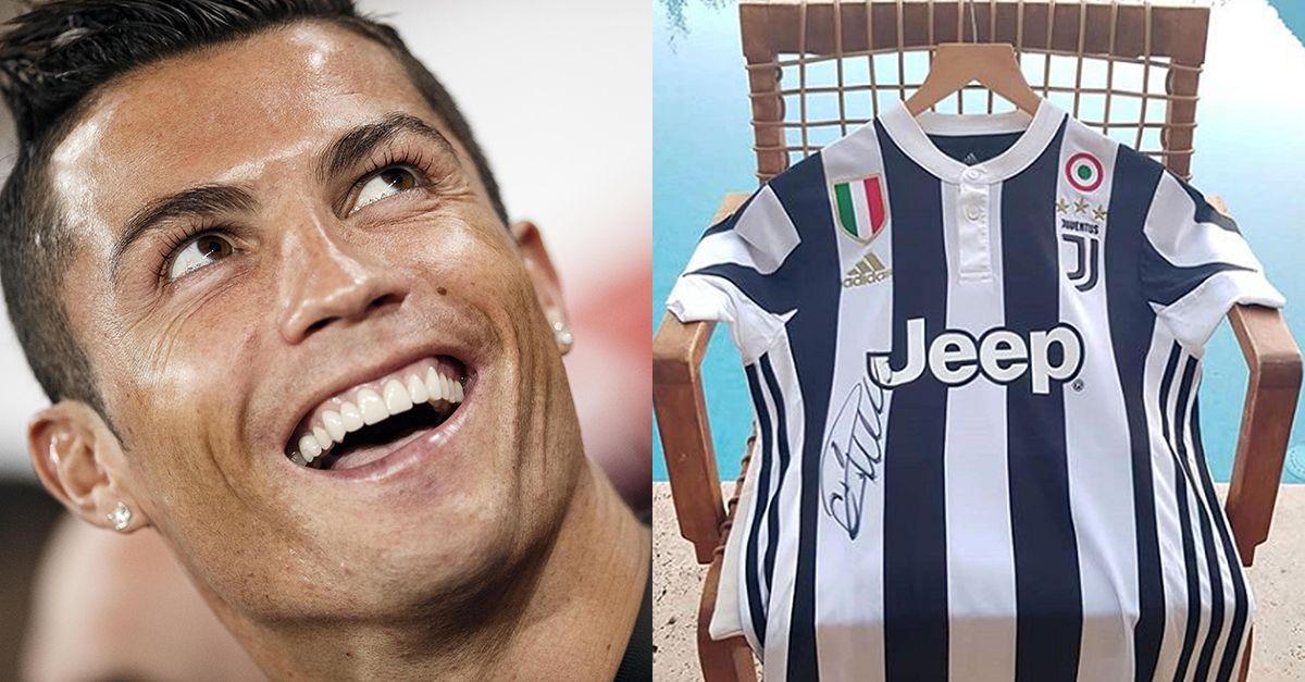 Cristiano Ronaldo, ecco chi ha ricevuto la prima maglia della Juventus autografata