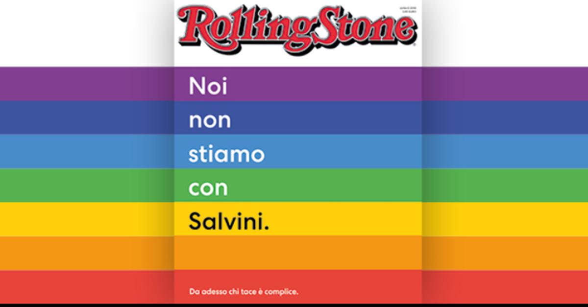 """""""Noi non stiamo con Salvini. Da adesso chi tace è complice"""" Il manifesto pop di Rolling Stone"""