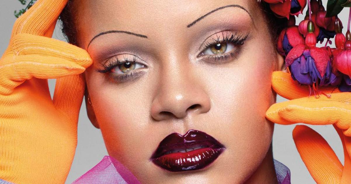 Rihanna lancia una nuova tendenza: sopracciglia sottilissime sulla cover di Vogue