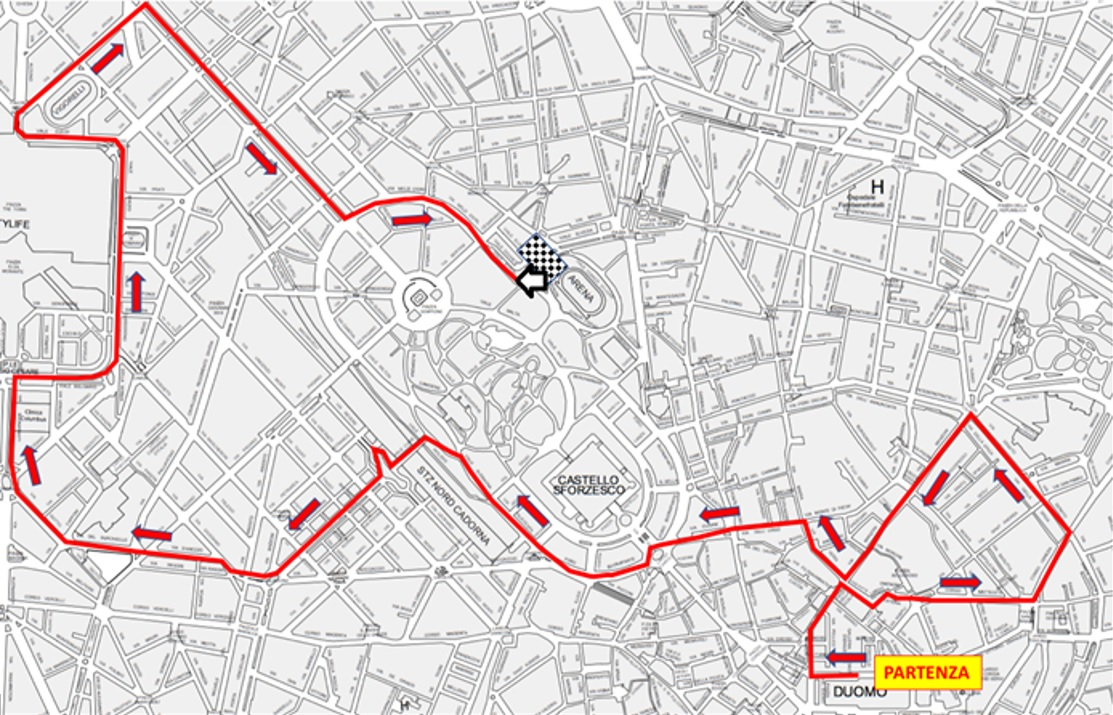 Percorso Deejay Ten Milano 10km