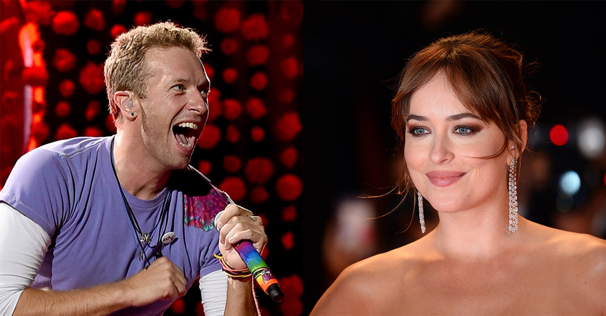 """Chris Martin e Dakota Johnson si dichiarano amore """"infinito"""" con lo stesso tatuaggio"""