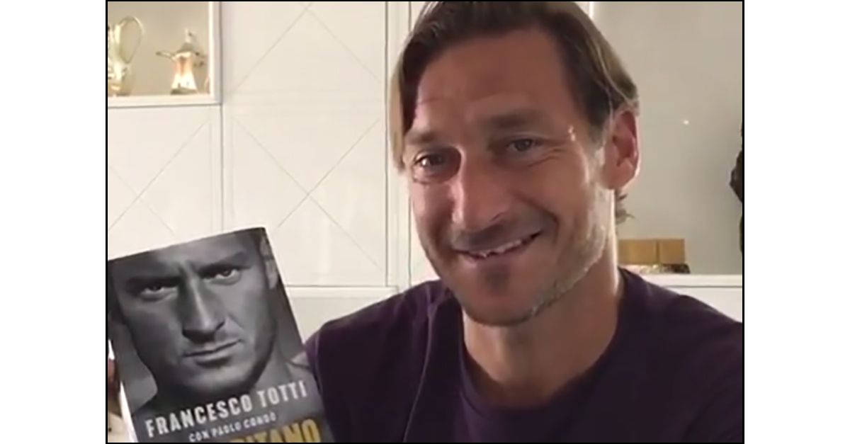 """Francesco Totti svela la copertina del suo libro: """"Un capitano"""""""