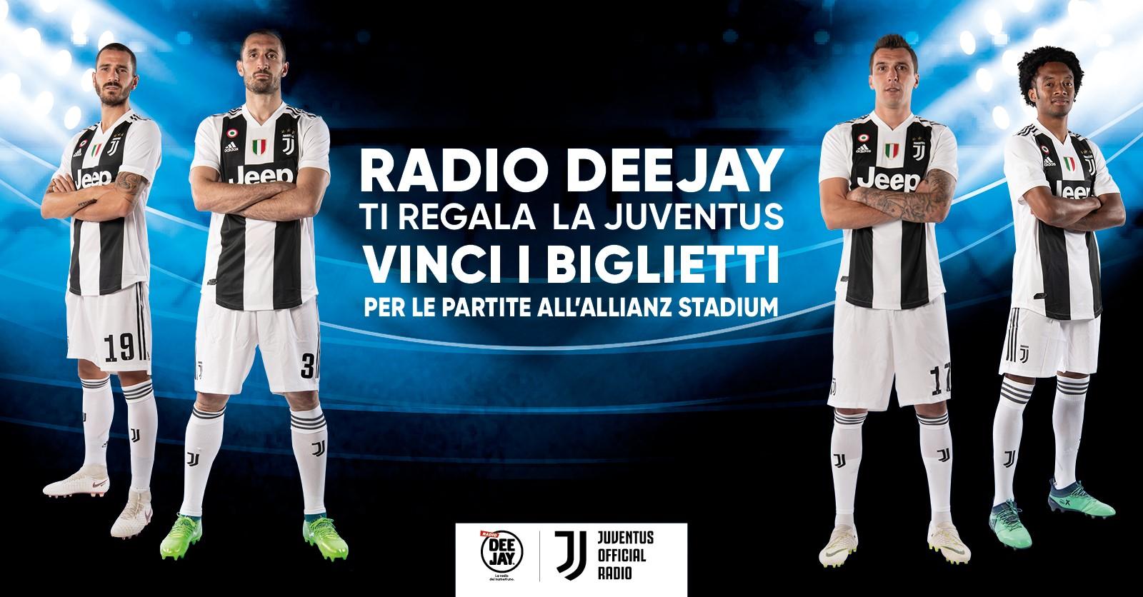 Gioca con Deejay e vinci i biglietti per le partite della Juventus