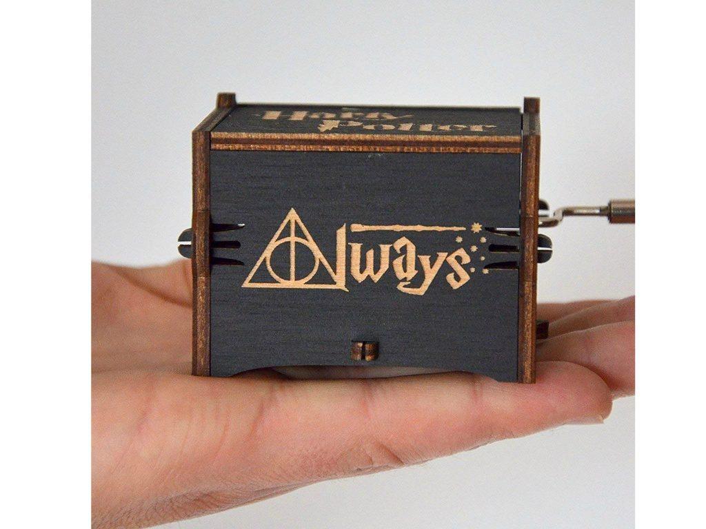 zyfun Carillon in stile antico intagliato in legno nero di Harry Potter