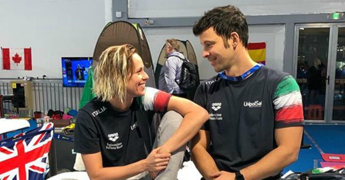 Federica Pellegrini e la foto con l'allenatore: sguardo da innamorati?
